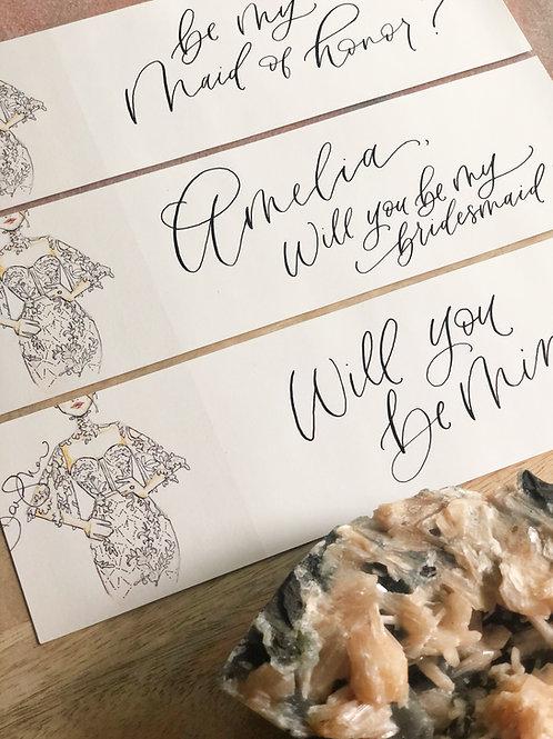 Lace Bridal Wraparound Stickers Set