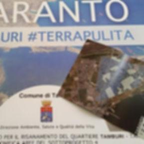 Bonifica quartiere Tamburi Taranto - piano di comunicazione Tamburi #TerraPulita
