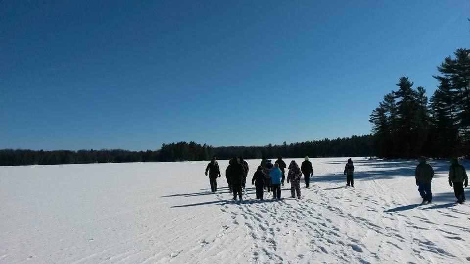 winter hike at wheeler