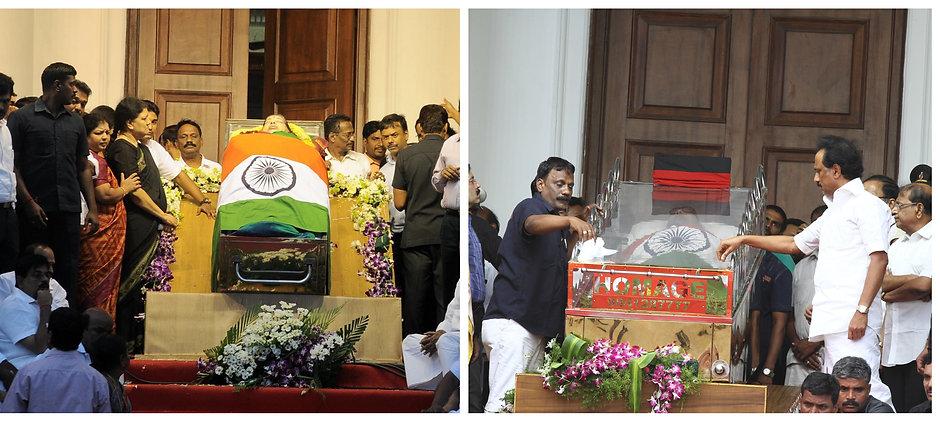 Puratchi Thalaivi Amma & Kalaignar Ayya Funeral