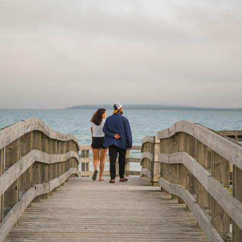 Romantic beach walks