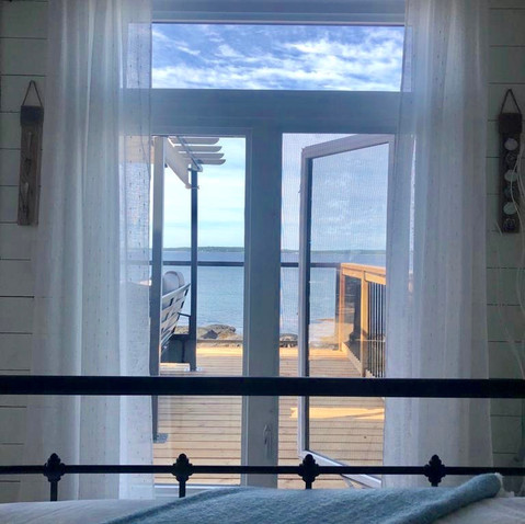 Views from the master bedroom (tiny oceanfront retreat )