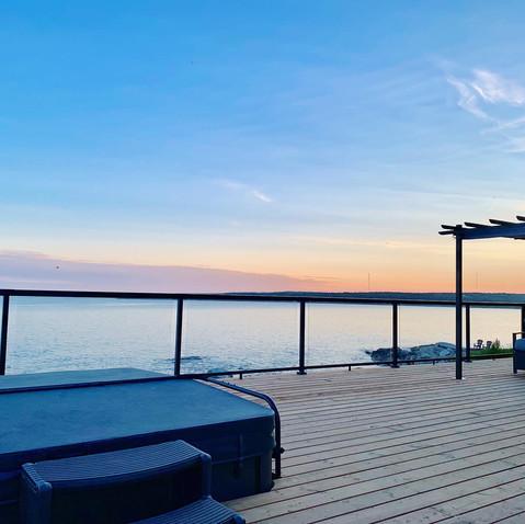 Views from the designer ocean front villa