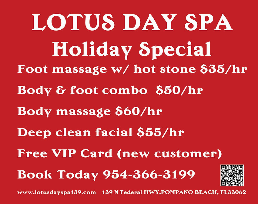 Lotus Day Spa Holiday Special 42x33 0120