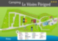 Plan du camping le Vézère Périgord en Dordogne