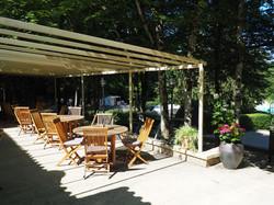 la terrasse du restaurant, Dordogne