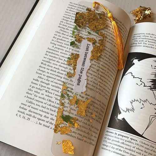 Lost between the pages bookmark