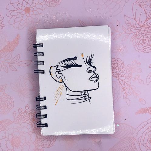 Glo'd Notebook   Wire Bound   Pocket Planner  