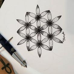 Evolve. ·_·_#sacredgeometry. #inkedupari