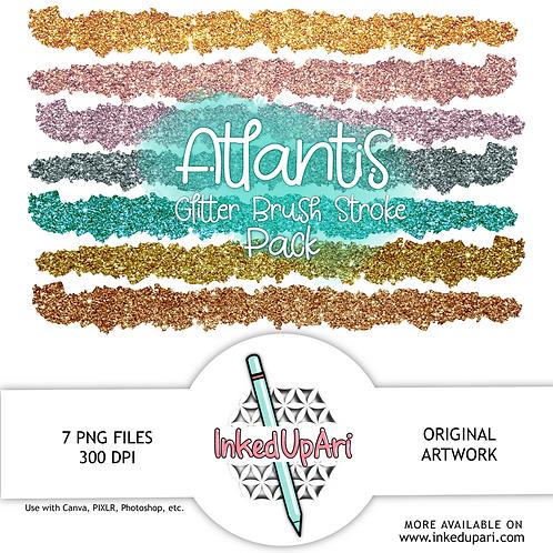 Atlantis Glitter Brush Stroke Pack (7 Brush Strokes!)