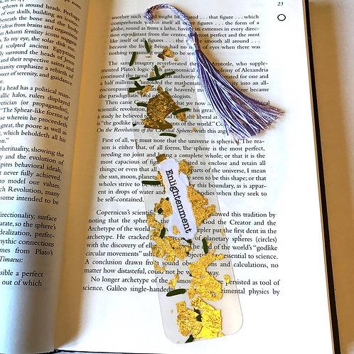 Enlightenment Bookmark w/ lavender tassel