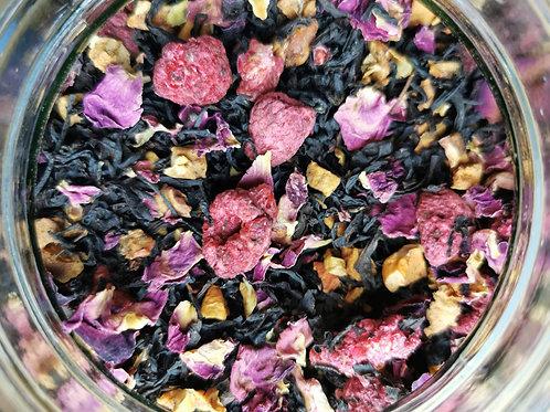 """Herbata czarna z maliną i płatkami róży """"Malinowa"""