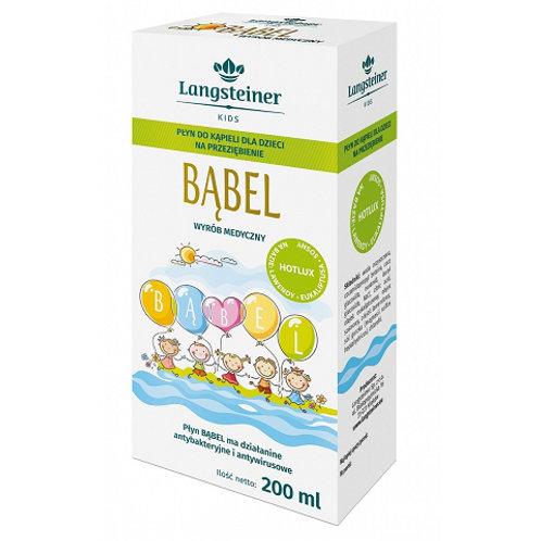 Bąbel Płyn Do Kąpieli Dla Dzieci Na Przeziębienie 200ml Langsteiner Kids