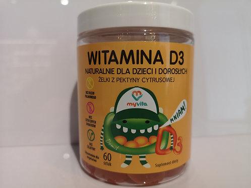 Żelki Naturalne Witamina D3 60 Sztuk MyVita