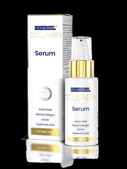 Novaclear Collagen Ujędrniające Serum do Twarzy Złotem i Kawiorem 30 ml