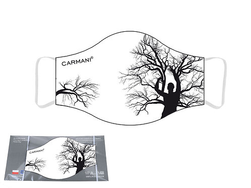 Maseczka ochronna - Mężczyzna i drzewo