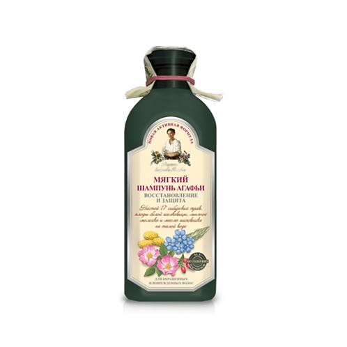 Odbudowujący szampon do włosów farbowanych.
