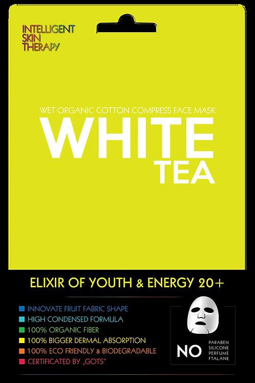 Ekspresowa maseczka biała herbata- eliksir energii i młodości 20+.
