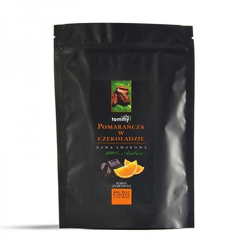 Kawa smakowa Czekolada- Pomarańcza 250g  TOMMY CAFE Ziarna