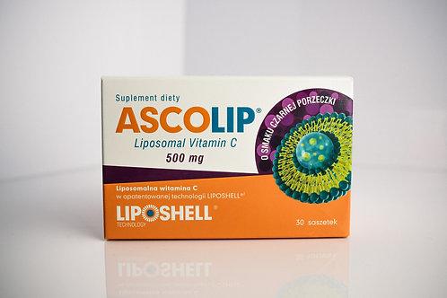 ASSCOLIP Liposomal Vitamin C 500mg 30 Saszetek Czarna Porzeczka