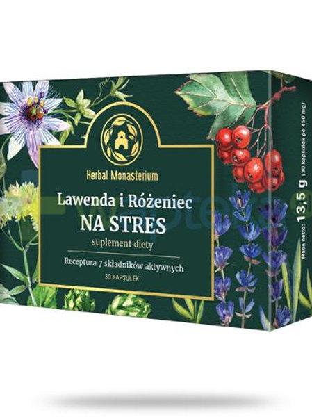 Lawenda i Różeniec na stres 30 kapsułek suplement diety Receptura 7 składników.