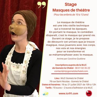 Stage Masques de théâtre