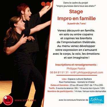 Stage Impro en Famille