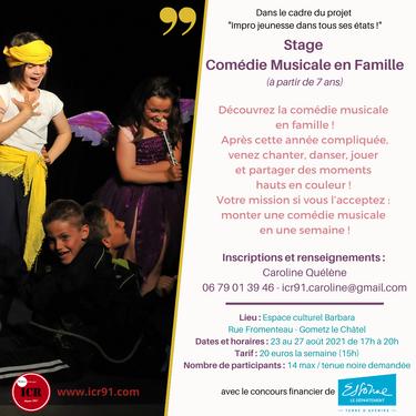 Stage Comédie Musicale en Famille