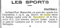 Journal de Genève 20 Novembre 1921