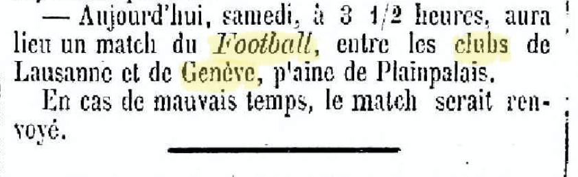 Journal de Genève le 27 novembre 1875