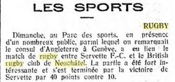 Journal de Genève 21 Novembre 1921