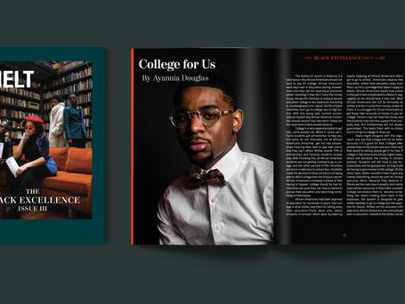 Layout for Melt Magazine Adobe Photoshop and Indesign 2019