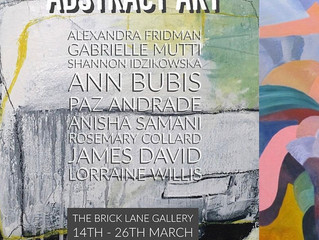 Abstract Art Exhibition opening.
