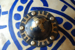 Schildbuckel mit Bronzebeschlägen