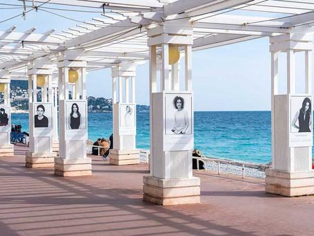 'Libres et égales': Portraits Celebrate Women on Promenade des Anglais