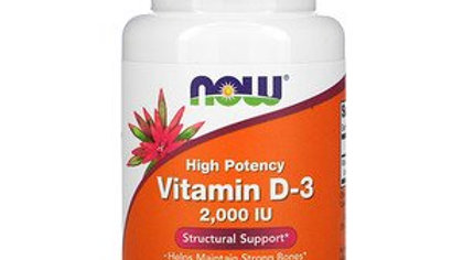 NOW Vitamin D-3 2,000 IU 120 Softgels