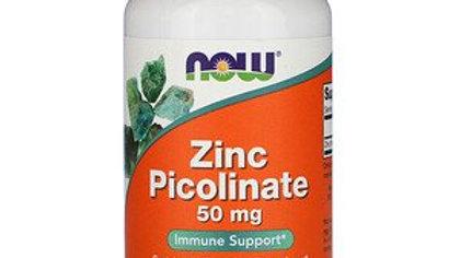 NOW Zinc Picolinate 50mg 60 Veg Caps