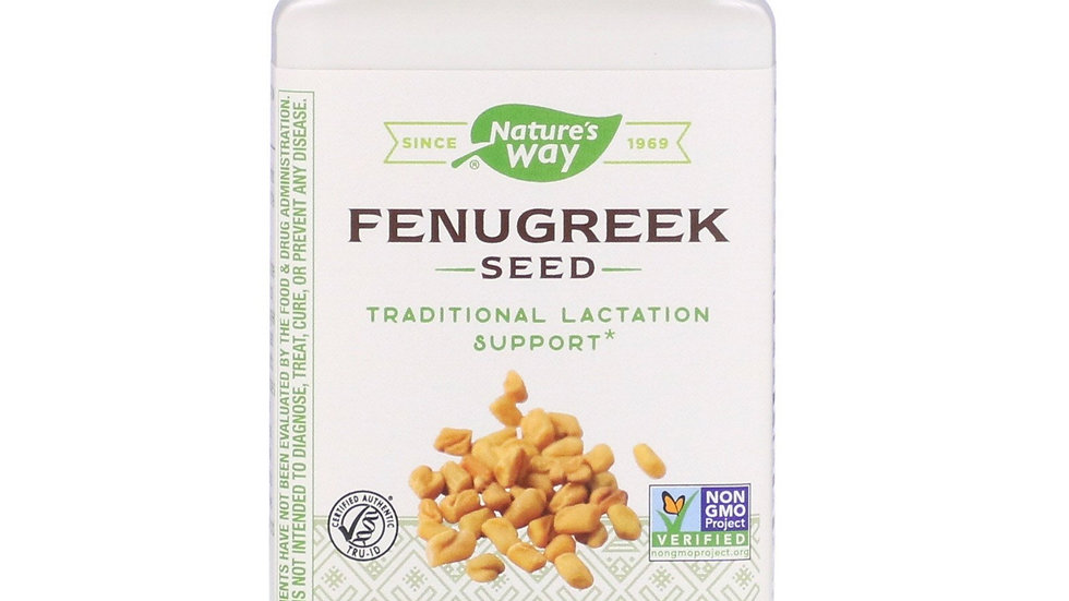 Nature's Way, Fenugreek Seed, 1,220 mg, 180 Vegan Capsules