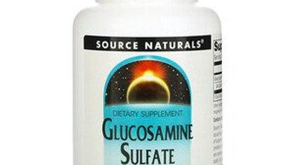 Source Naturals, Glucosamine Sulfate, Sodium Free, 500 mg, 60 Capsules