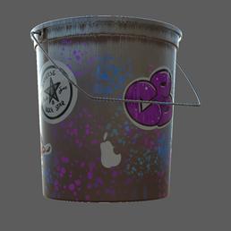 Spray Paint Bucket - Detail 2