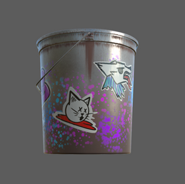 Spray Paint Bucket - Detail 1