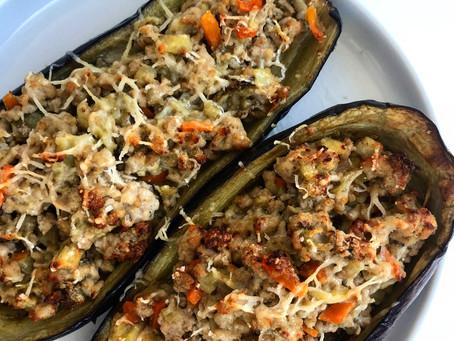 Melanzane Ripiene/ Stuffed aubergines
