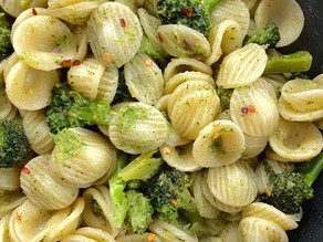 Orecchiette with broccoli, anchovies and peperoncino