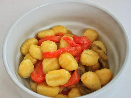 Gnocchi Peppers and Pecorino cheese
