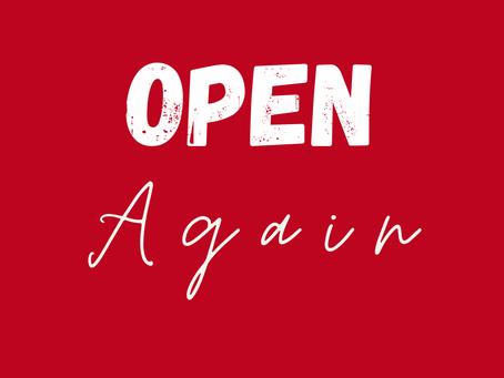 Open, Again