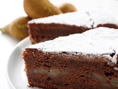 Torta chocolate and pears