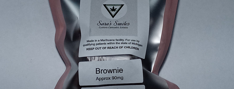 Sara's Smiles - Brownie (approx. 90 mg )