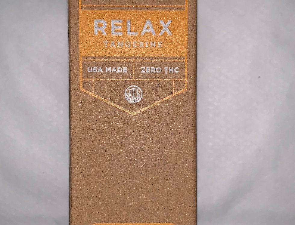 1000mg Relax CBD tincture (Tangerine)
