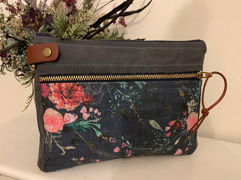 Oilskin, waxed Cotton, Canvas Purse/ Accessories Bag
