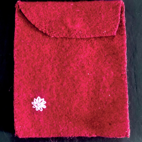 Felt Hand Embroidered Wallet